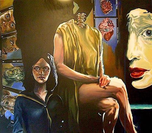 ALIM, Philosophische Gedanken, People: Women, People: Couples, Symbolism, Abstract Expressionism