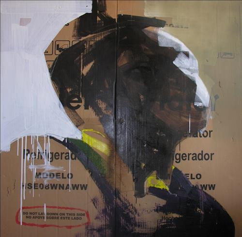 Francisco Núñez, No apoye sobre este lado, People: Portraits, Abstract art, Abstract Art