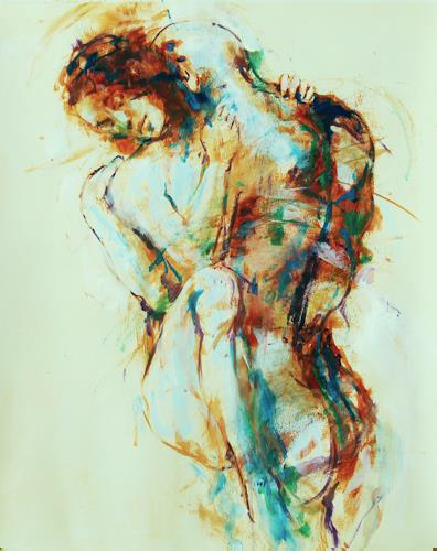 Ambro Dritty, Evening, Erotic motifs: Female nudes, Erotic motifs: Male nudes, Neo-Expressionism, Expressionism