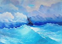 A. Volkova, Storm Painting -  Copy Of I K Aivazovsky Storm