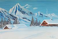 Alla-Alevtina-Volkova-Landscapes-Mountains-Landscapes-Winter-Modern-Age-Abstract-Art