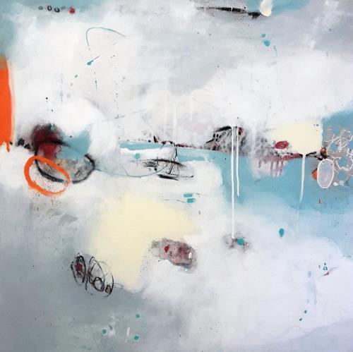 Susann Kasten-Jerke, HerzStimme hell und milde fort bis dorthin, Abstract art, Fantasy, Abstract Art, Expressionism