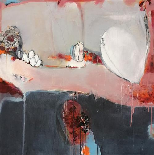 Susann Kasten-Jerke, Together at a distance, Abstract art, Fantasy, Abstract Expressionism, Expressionism