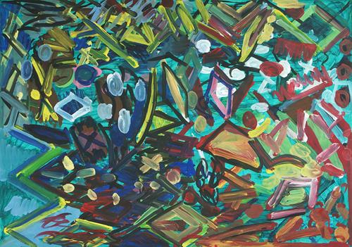 Yuriy Samsonov, Shards of ore., Abstract art, Landscapes, Abstract Expressionism