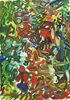Yuriy Samsonov, In the country., Abstract art, Landscapes, Abstract Expressionism