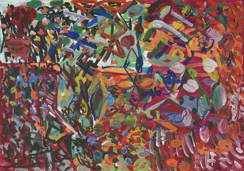 Yuriy Samsonov, Von Cardiff nach Rhonda Var., Abstract art, Landscapes, Abstract Expressionism