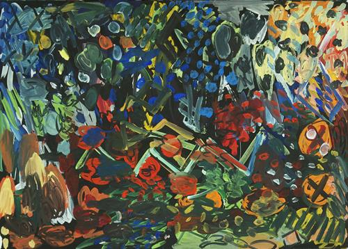Yuriy Samsonov, Wilder Gänsesee., Abstract art, Landscapes, Abstract Expressionism
