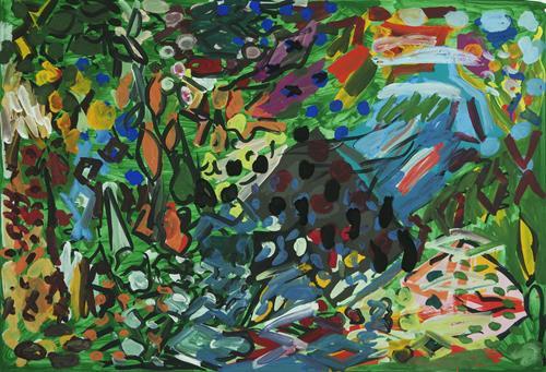 Yuriy Samsonov, Schlaflosigkeit. Rotalgen., Abstract art, Landscapes, Abstract Expressionism