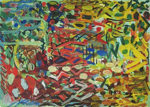 Yuriy Samsonov, Schafstein., Abstract art, Landscapes, Abstract Expressionism, Expressionism