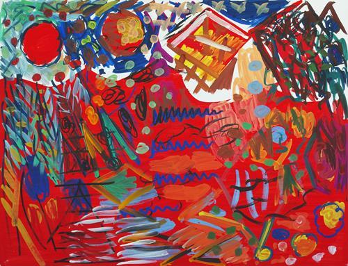 Yuriy Samsonov, Ich werde es erzählen., Abstract art, Landscapes, Abstract Expressionism