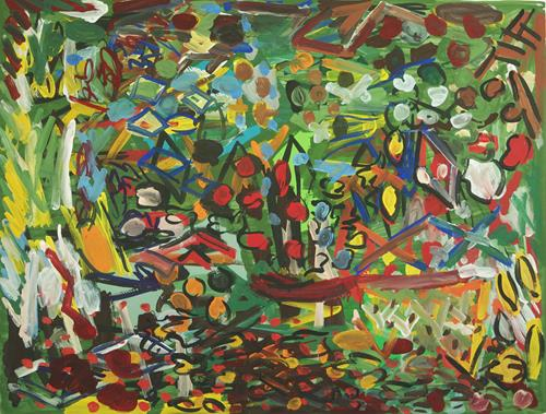 Yuriy Samsonov, Die Straße bleibt., Abstract art, Landscapes, Abstract Expressionism