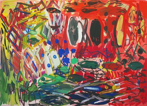 Yuriy Samsonov, Ohne Sense und Sichel. Lotusblume., Abstract art, Landscapes, Abstract Expressionism