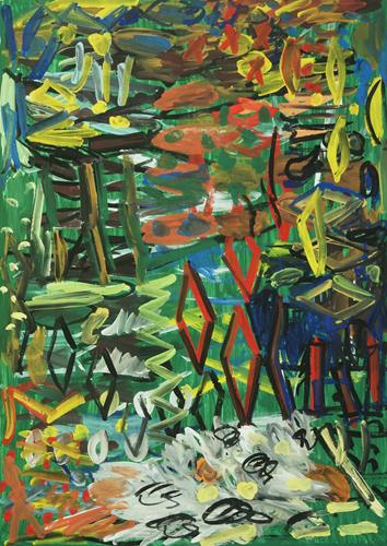 Yuriy Samsonov, Geduld., Abstract art, Landscapes, Abstract Expressionism