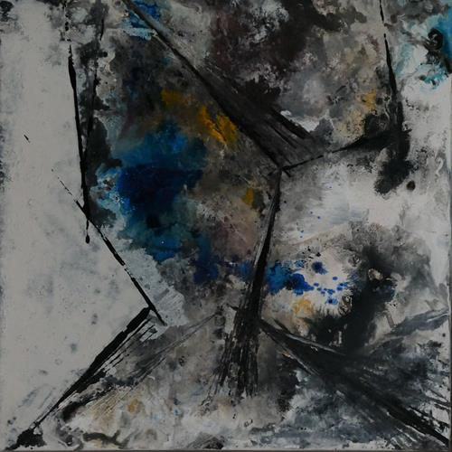 Uli Schweitzer, Begrenzung, Landscapes: Winter, Nature: Rock, Abstract Expressionism