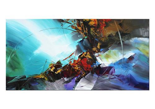 Thomas Stephan, Amalfi Beach, Abstract art, Landscapes: Beaches, Abstract Expressionism, Expressionism