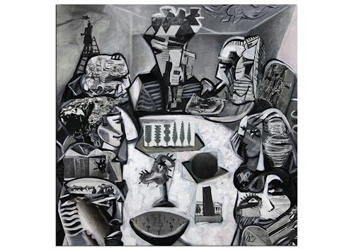 Andreas Garbe, K. Namazi: Kreatives Meeting, People: Group, The world of work, Cubism, Abstract Expressionism