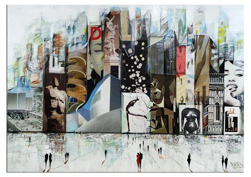 Andreas Garbe, K. Namazi: Intellektuelles Utopia, People, Fantasy, Neo-Expressionism, Abstract Expressionism