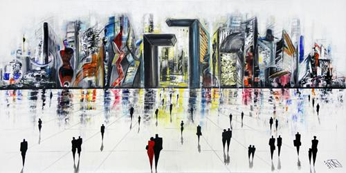 Andreas Garbe, Verborgene Formen IV, Abstract art, Architecture, Neo-Expressionism