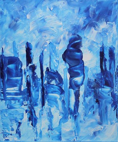 Andreas Garbe, Wolkenkuckkucksstein III, Landscapes, Abstract art, Abstract Art
