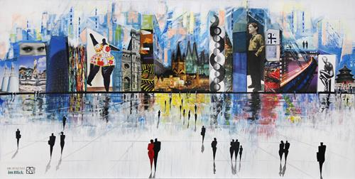 Andreas Garbe, Die Zukunft im Blick, Abstract art, Architecture, Neo-Expressionism