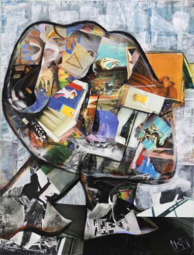 Andreas Garbe, The Thinker II, People, Abstract art, Neo-Expressionism, Abstract Expressionism
