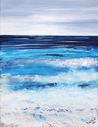 Andreas Garbe, Meeresblick groß, Landscapes: Sea/Ocean, Nature: Water, Abstract Art