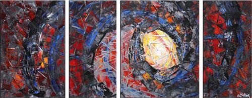 Andreas Garbe, Deep Passion I, Abstract art, Fantasy, Abstract Expressionism