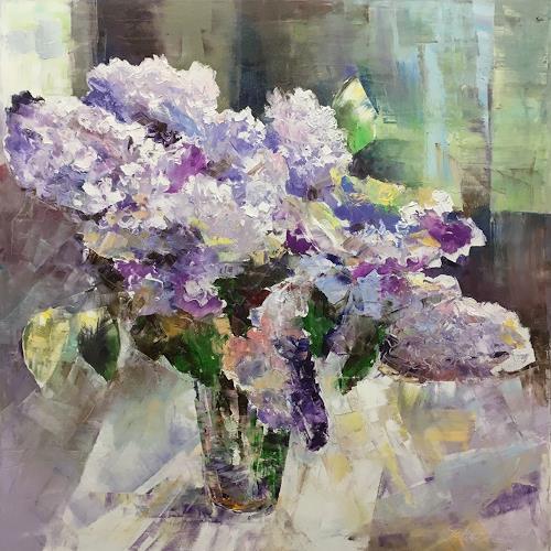 Olga Scheck, N/T, Plants: Flowers, Still life, Contemporary Art, Expressionism