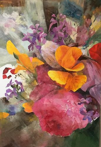 Olga Scheck, Sommer 1, Plants: Flowers, Contemporary Art, Expressionism