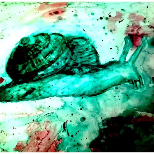 Kristina Ramm, Schnecke in Aktion, Animals: Land, Symbol, Others, Expressionism