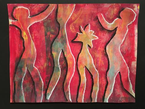 Ruth Loewenkamp, Tanz mit dem Virus, People, Miscellaneous Emotions, Abstract Art