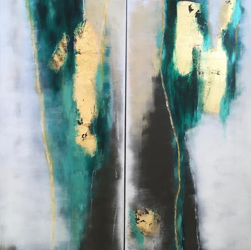 Jutta Oster, Rheingold, Abstract art, Non-Objectivism [Informel], Expressionism