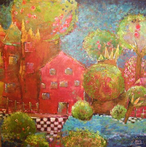 ManuEla Ludwig, Kronenstraße, Miscellaneous Landscapes, Abstract Art, Expressionism