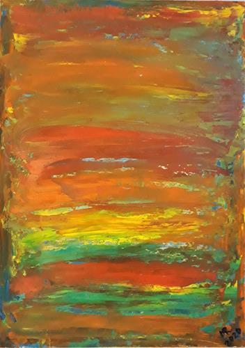 Marie Ruda, Mythologie der Farbe-1., Abstract art, Abstract art, Abstract Art