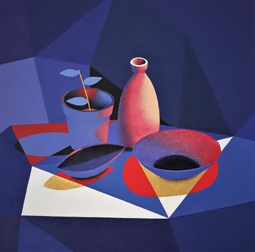 Marie Ruda, Stillleben., Decorative Art, Still life, Art Déco, Expressionism
