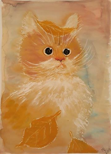 Marie Ruda, Kätzchen., Miscellaneous Animals, Animals, Modern Age