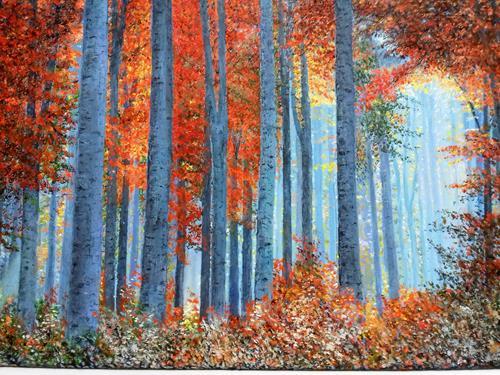 Marie Ruda, Birken, Nature: Wood, Plants: Trees, Neo-Realism