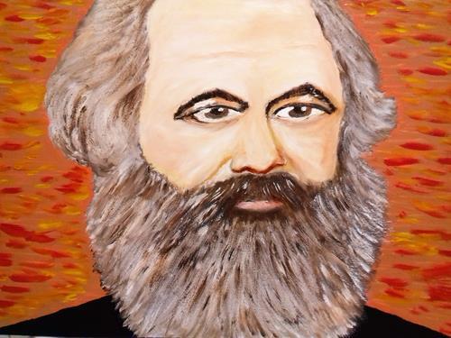 Marie Ruda, Im Studio-K.M.(Karl Marx)., People: Men, History, Classicism