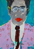 Barbara Kroll, Mann mit Brillen