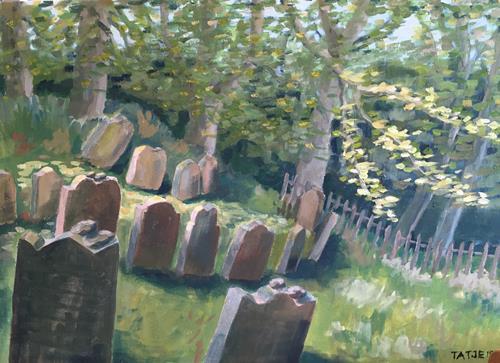 Joachim Tatje, Judenfriedhof (Schwalenberg), Landscapes: Hills, Death/Illness, Post-Impressionism, Expressionism