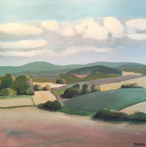 Joachim Tatje, Herbst, Landscapes: Autumn, Decorative Art, Realism, Expressionism