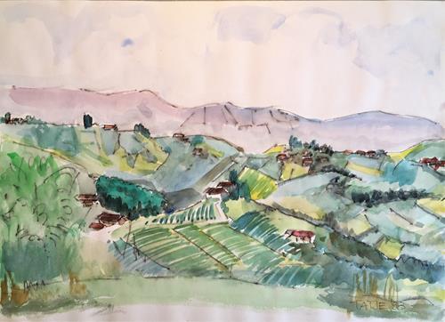 Joachim Tatje, La Morra, Landscapes: Mountains, Decorative Art, Expressive Realism