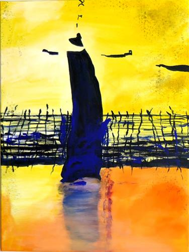 Karin Tillmanns, Dance at the fence, Abstract art, Abstract Art, Abstract Expressionism