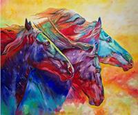 Sabrina-Seck-1-Animals-Land-Abstract-art-Modern-Age-Expressionism-Abstract-Expressionism