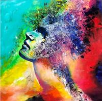 Sabrina-Seck-1-People-Faces-Abstract-art-Modern-Age-Expressionism-Abstract-Expressionism