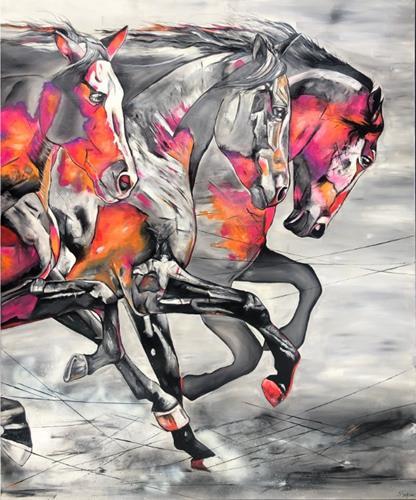 Sabrina Seck, Dynamik, Animals: Land, Abstract art, Contemporary Art