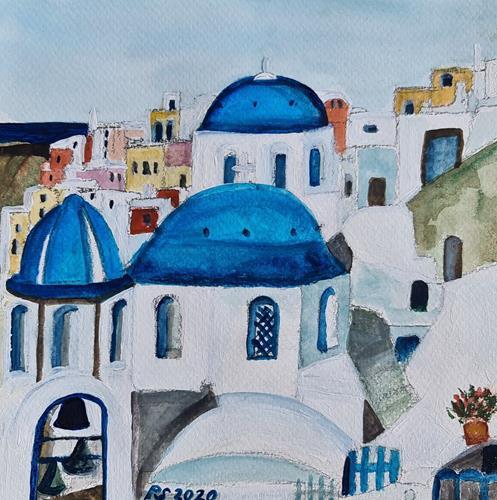 Peter Seiler, Oia Santorini, Miscellaneous Landscapes, Concrete Art