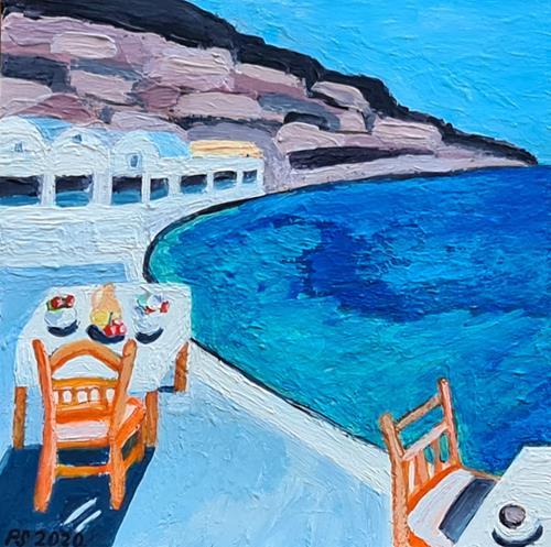 Peter Seiler, Ammoudi Bay Santorini - 2020, Landscapes: Sea/Ocean, Concrete Art