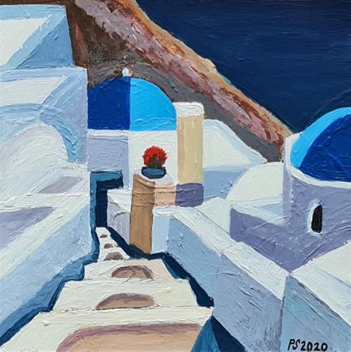 Peter Seiler, Oia Santorini, Miscellaneous Landscapes, Contemporary Art