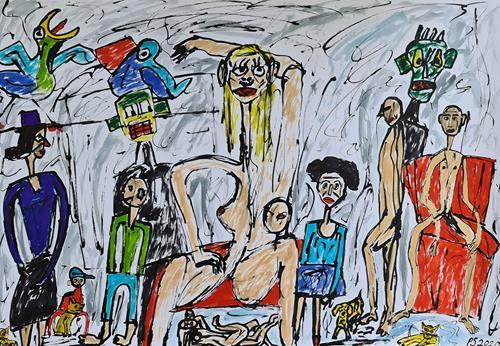 Peter Seiler, Scandal, People: Group, Primitive Art/Naive Art